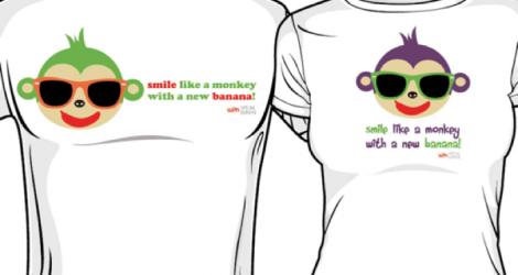 Like a Monkey with a New Banana t-shirt